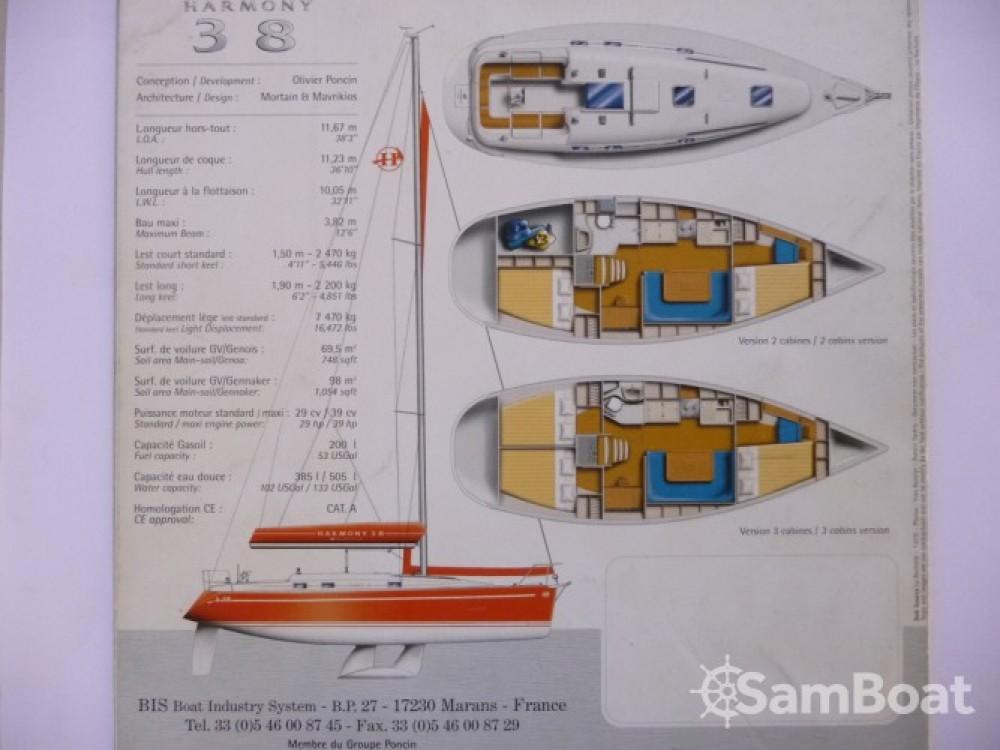 Boat rental Marseille cheap Harmony 38