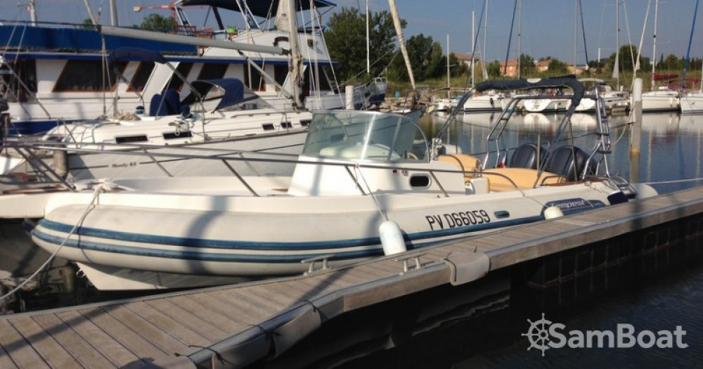 Verhuur Rubberboot in Canet-Plage - Capelli Tempest 900
