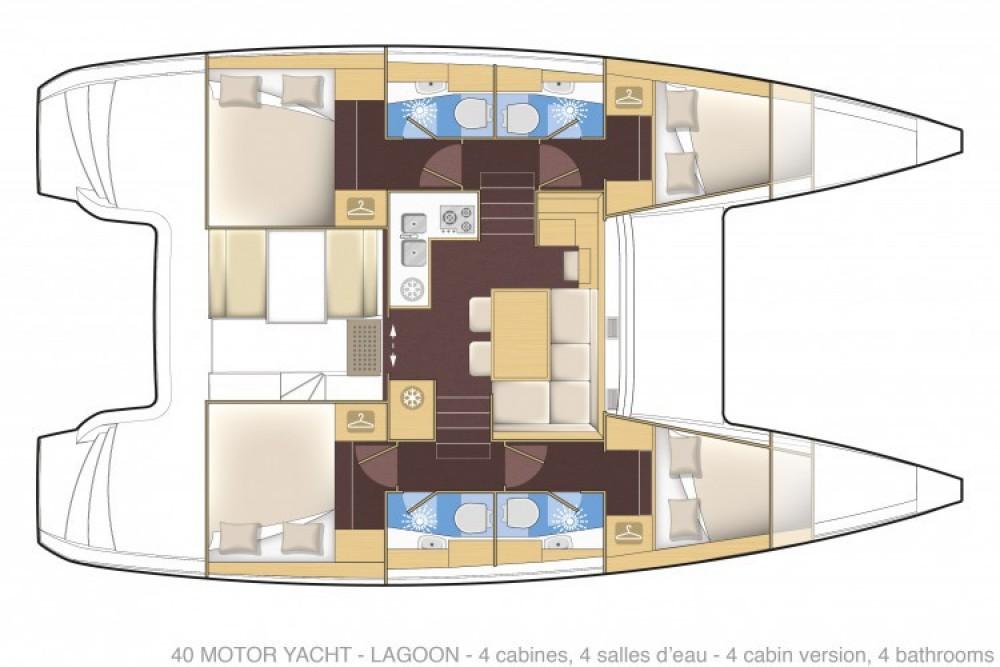 Bootverhuur Lagoon Lagoon 40 Motor Yacht in Cannes via SamBoat