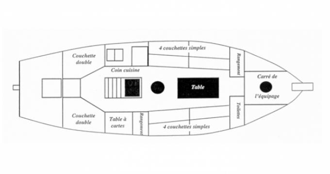 Location bateau Legueltel-Pierre Lougre à Flamanville sur Samboat