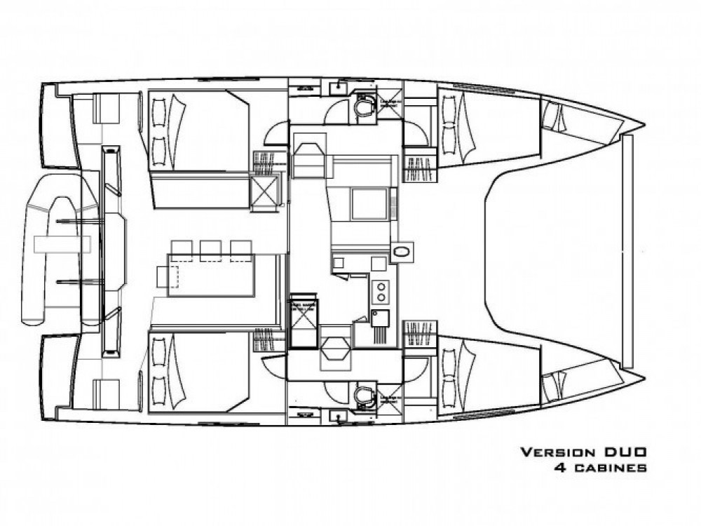 Louer Catamaran avec ou sans skipper Nautitech à ACI Marina Trogir
