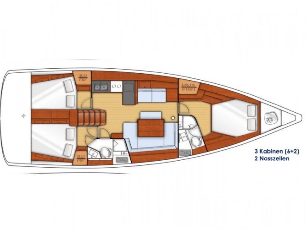 Location bateau Marina Kaštela pas cher Oceanis 45