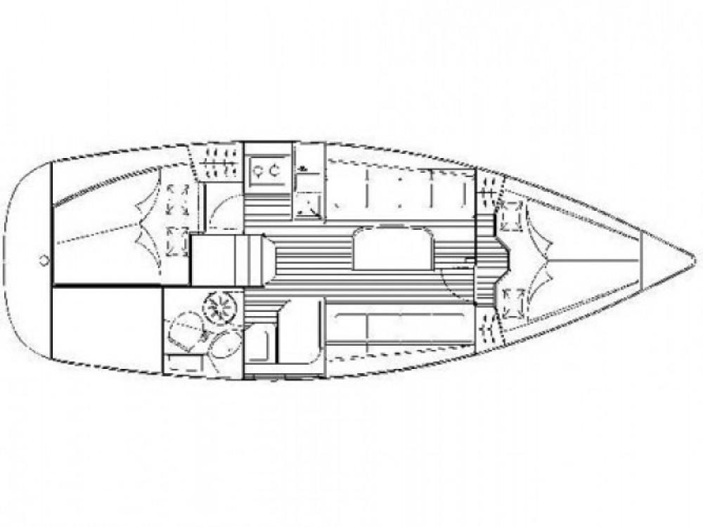 Bavaria Cruiser 31 entre particuliers et professionnel à Cala dei Sardi