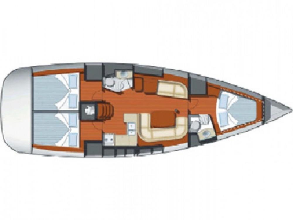 Location yacht à Cala dei Sardi - Jeanneau Sun Odyssey 42i sur SamBoat