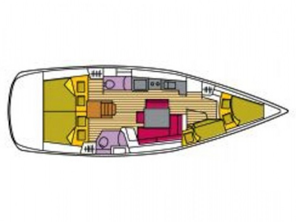 Location bateau Bénéteau Oceanis 43 à Cala dei Sardi sur Samboat