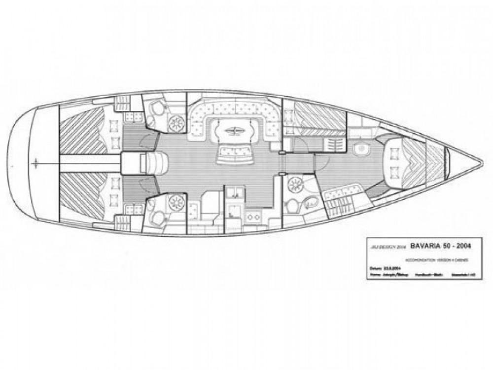 Location bateau Cos pas cher Bavaria 50-4 CBS Cruiser
