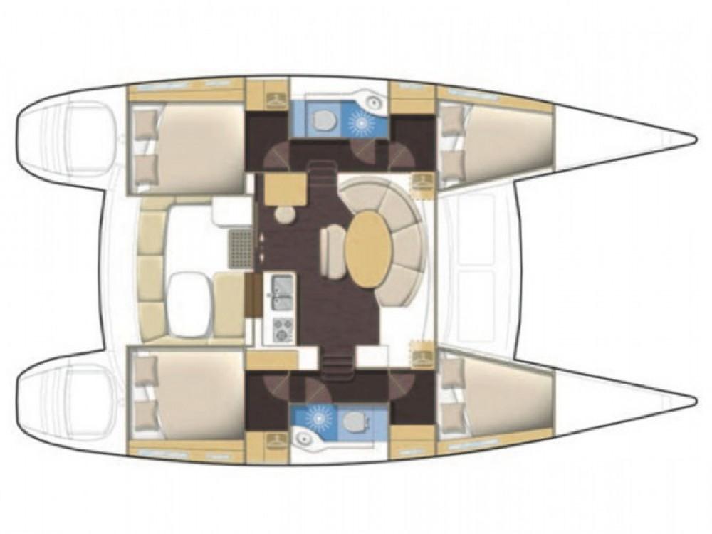 Location bateau Μαρίνα Αλίμου pas cher Lagoon 380