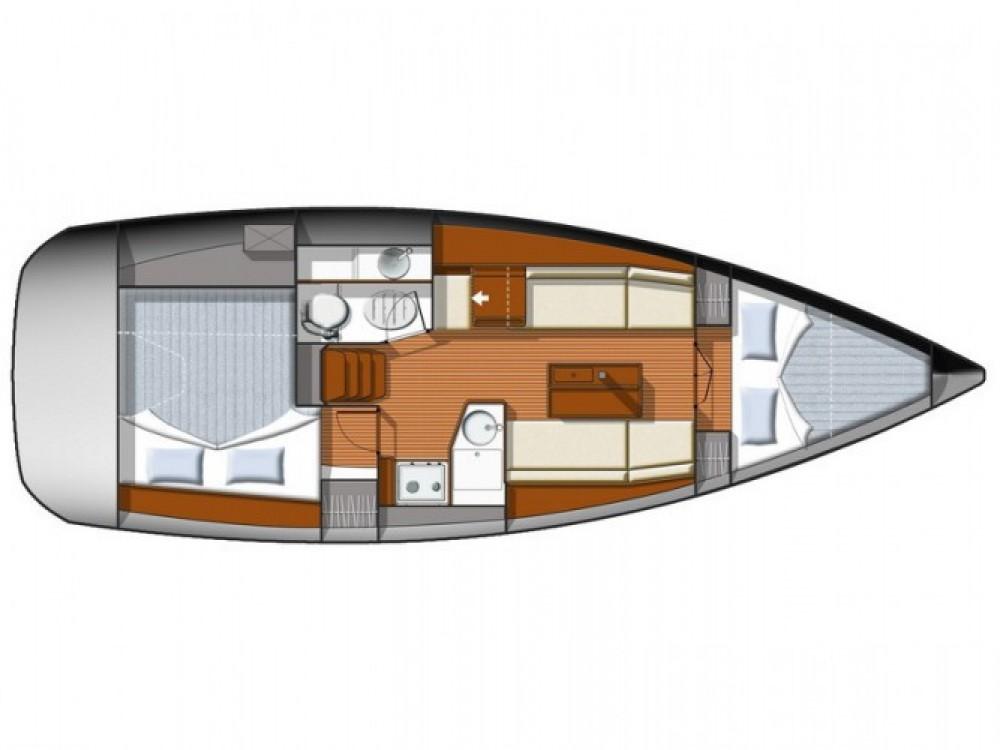 Location bateau Jeanneau Sun Odyssey 33i à ACI Marina Split sur Samboat