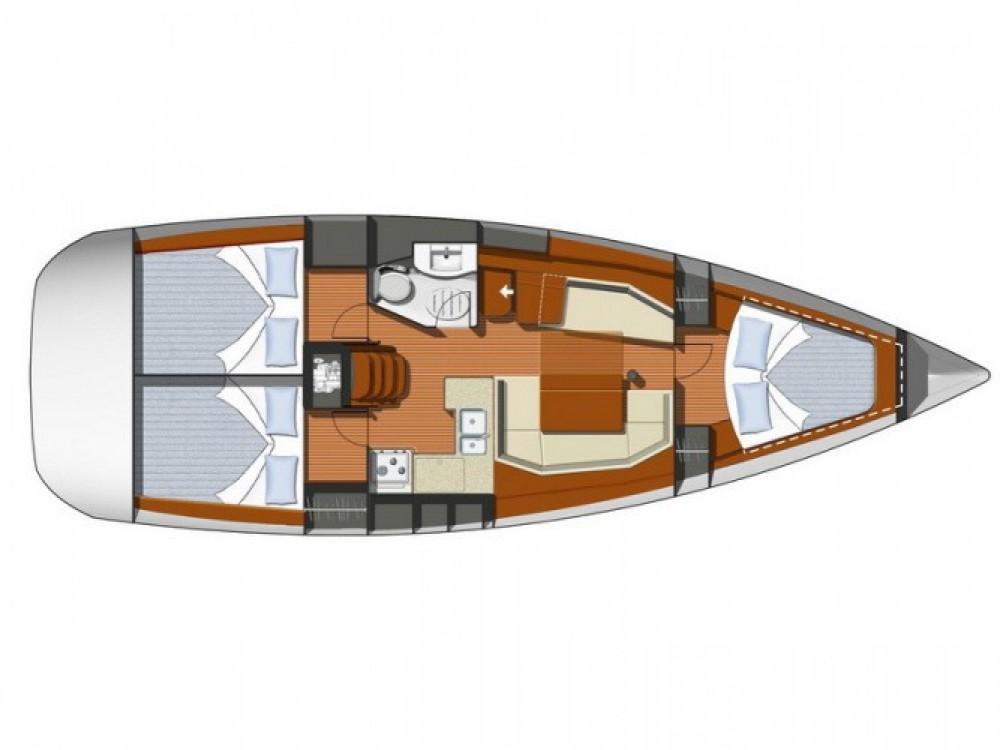 Jeanneau Sun Odyssey 39i entre particuliers et professionnel à ACI Marina Split
