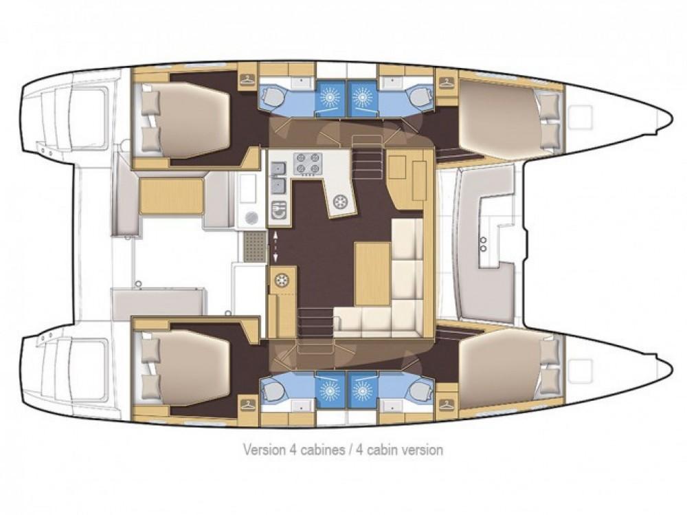 Location bateau Dubrovnik pas cher Lagoon 450  Flybridge
