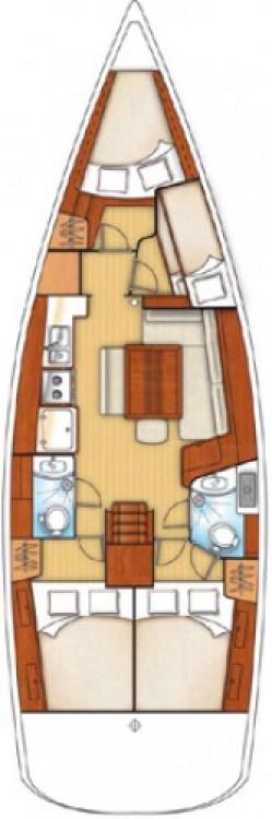 Bénéteau Oceanis 43 entre particuliers et professionnel à Murter