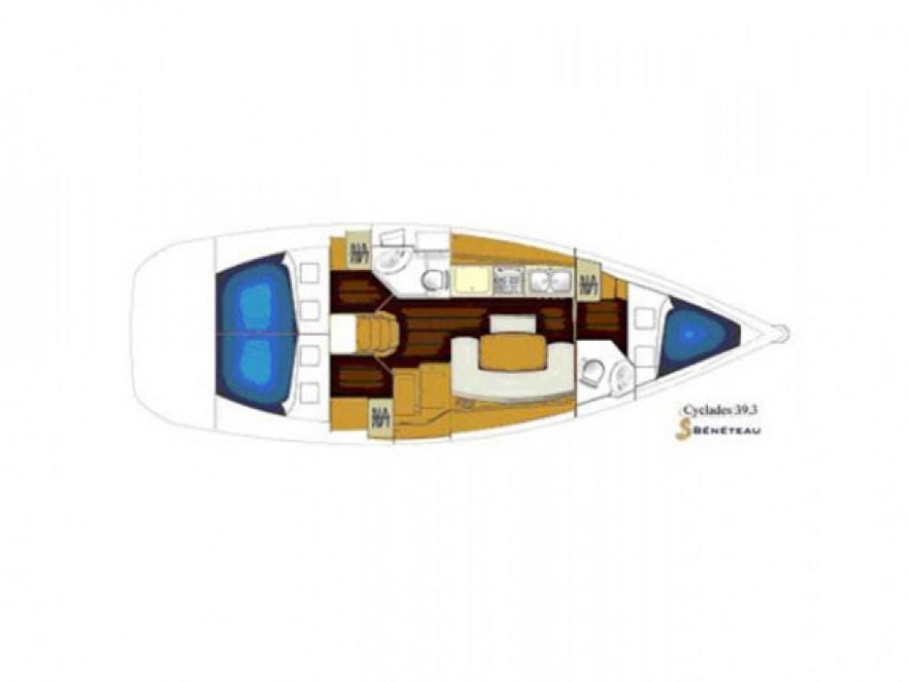 Location bateau Bénéteau Cyclades 39.3 à Gênes sur Samboat