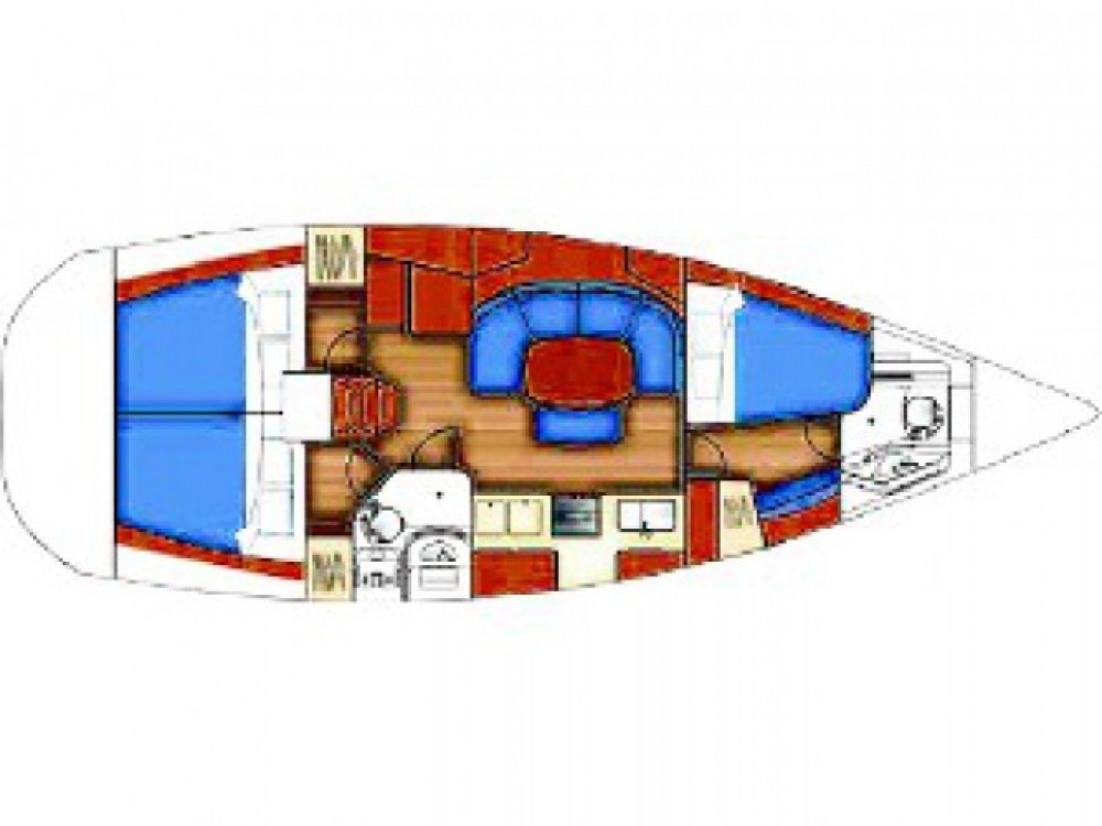 Bénéteau Oceanis 393 entre particuliers et professionnel à Marina