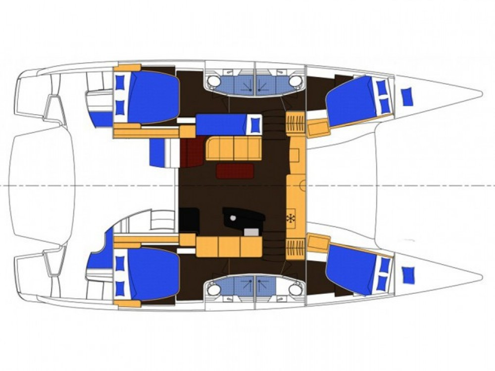 Louer Catamaran avec ou sans skipper Fountaine Pajot à Marina
