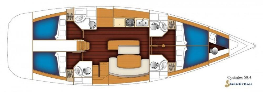 Location bateau Bénéteau Cyclades 50.4 à Furnari sur Samboat