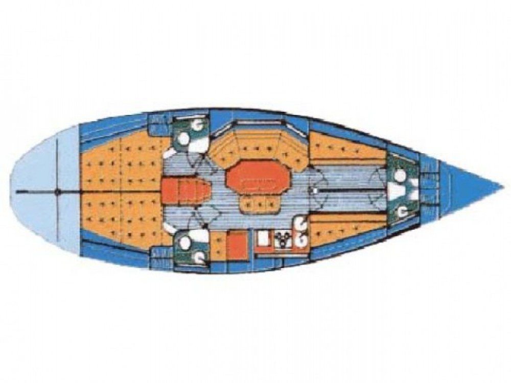 Location bateau Marina Kaštela pas cher Elan 431
