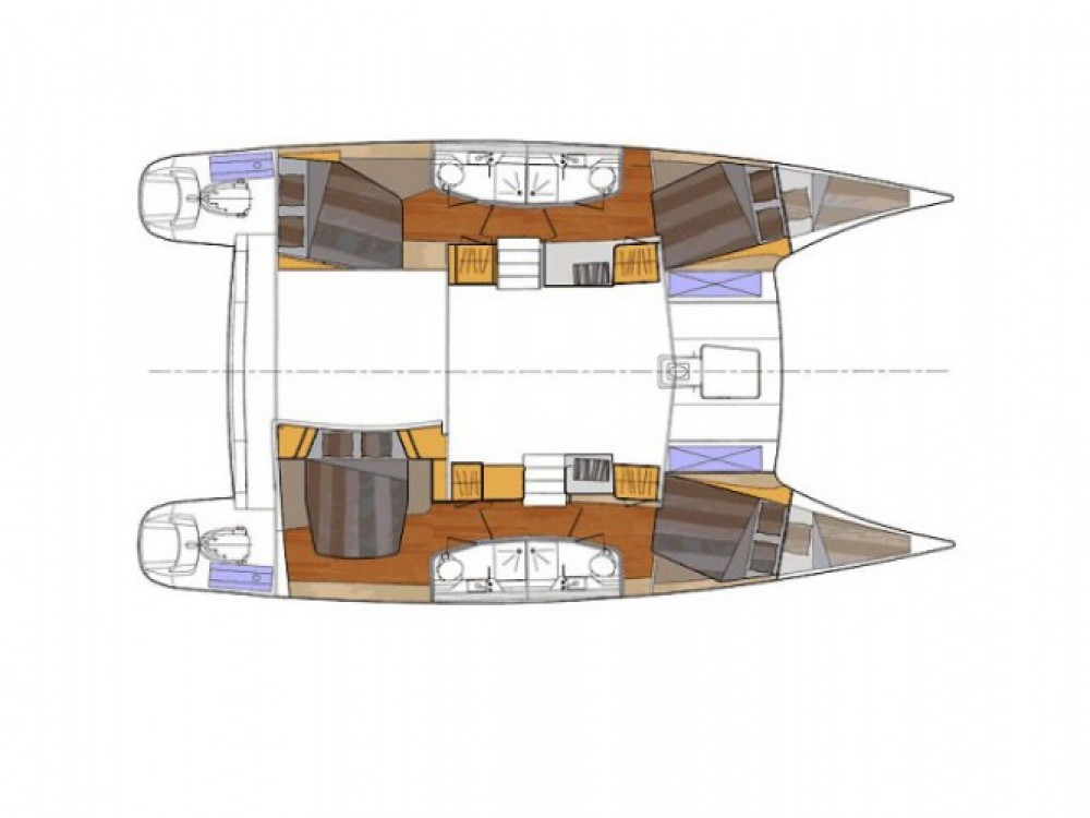 Location yacht à ACI Marina Split - Fountaine Pajot Orana 44 sur SamBoat