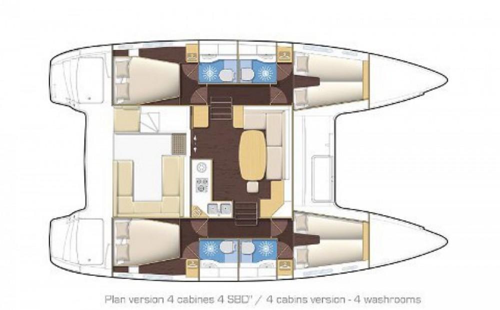 Location bateau ACI Marina Split pas cher Lagoon 400