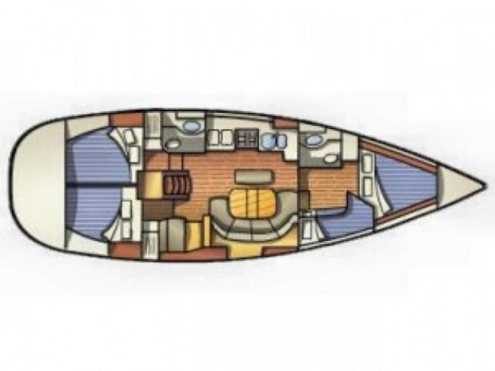 Bénéteau Oceanis 411 entre particuliers et professionnel à Leucade