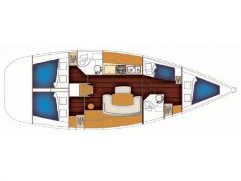 Louez un Bénéteau Cyclades 43 à Marina Kornati