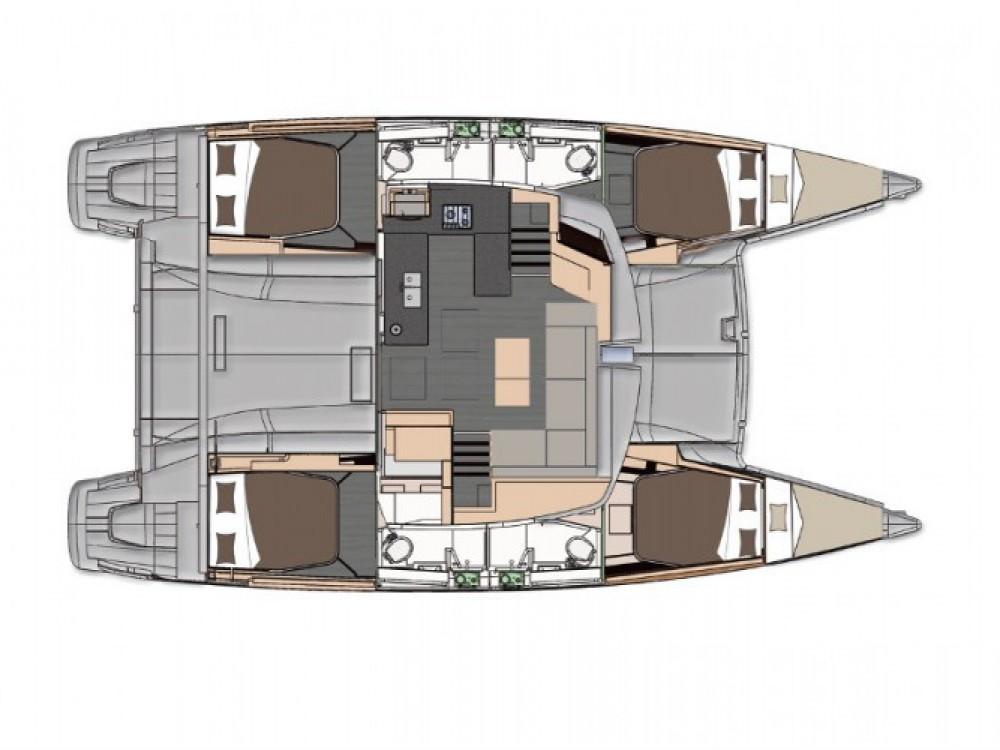 Location Catamaran à Marmaris - Fountaine Pajot Helia 44 Quatuor