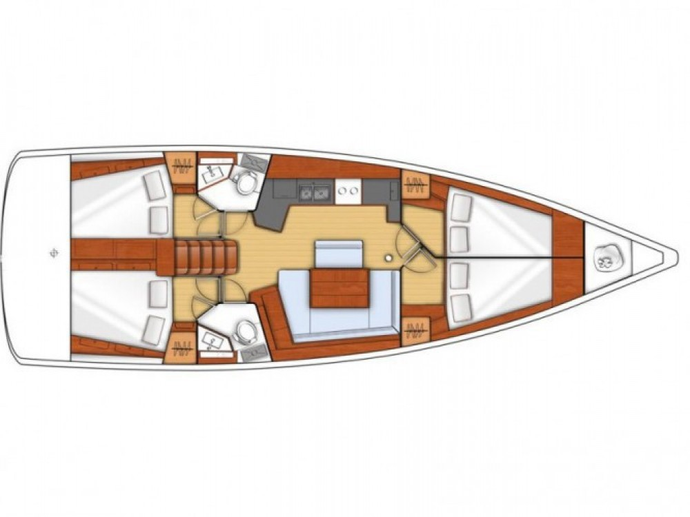 Location yacht à Tivat - Bénéteau Oceanis 45 (4 cabins) sur SamBoat