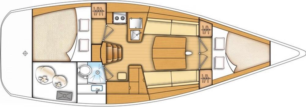 Location bateau Bénéteau First 35 à Marina Kaštela sur Samboat