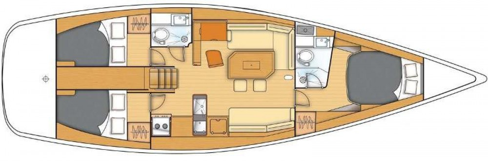Location yacht à Marina Kaštela - Bénéteau First 45 sur SamBoat