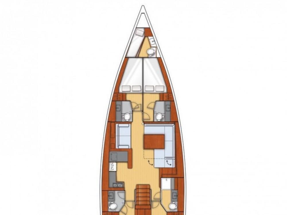 Location yacht à Marina Kaštela - Bénéteau Beneteau Oceanis 55 sur SamBoat