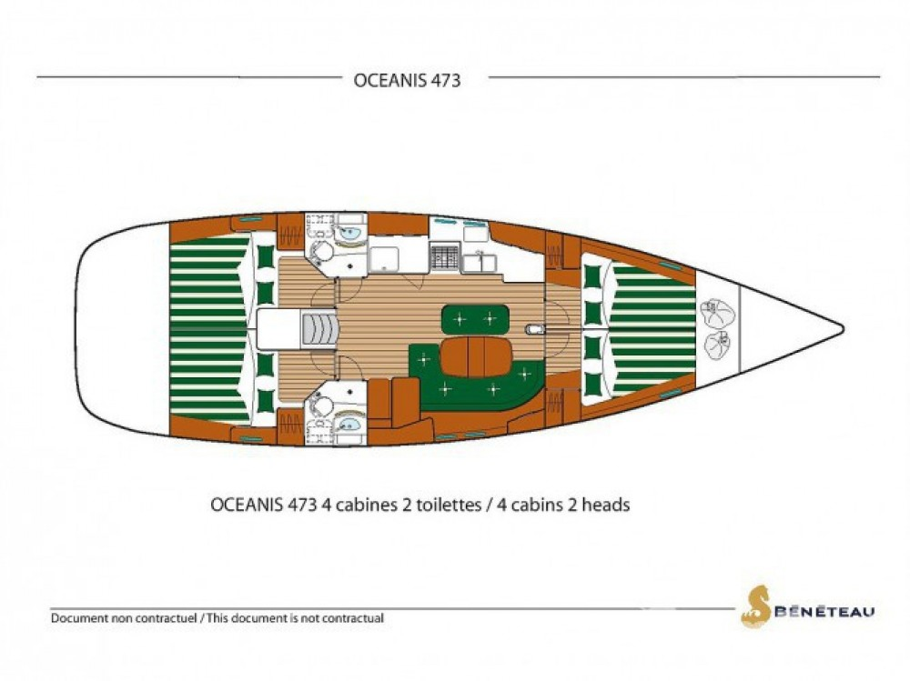 Location yacht à Sukošan - Bénéteau Oceanis 473 sur SamBoat