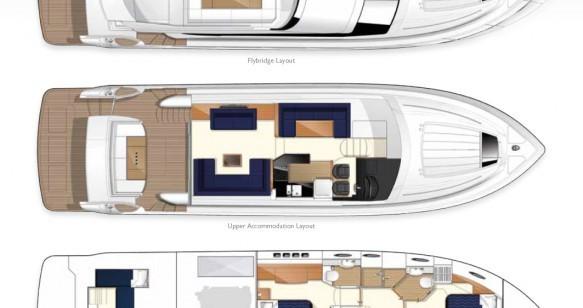 Louer Yacht avec ou sans skipper Princess à Cannes