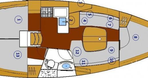 Location bateau Bénéteau Oceanis 331 Clipper à Provincia di Olbia-Tempio sur Samboat