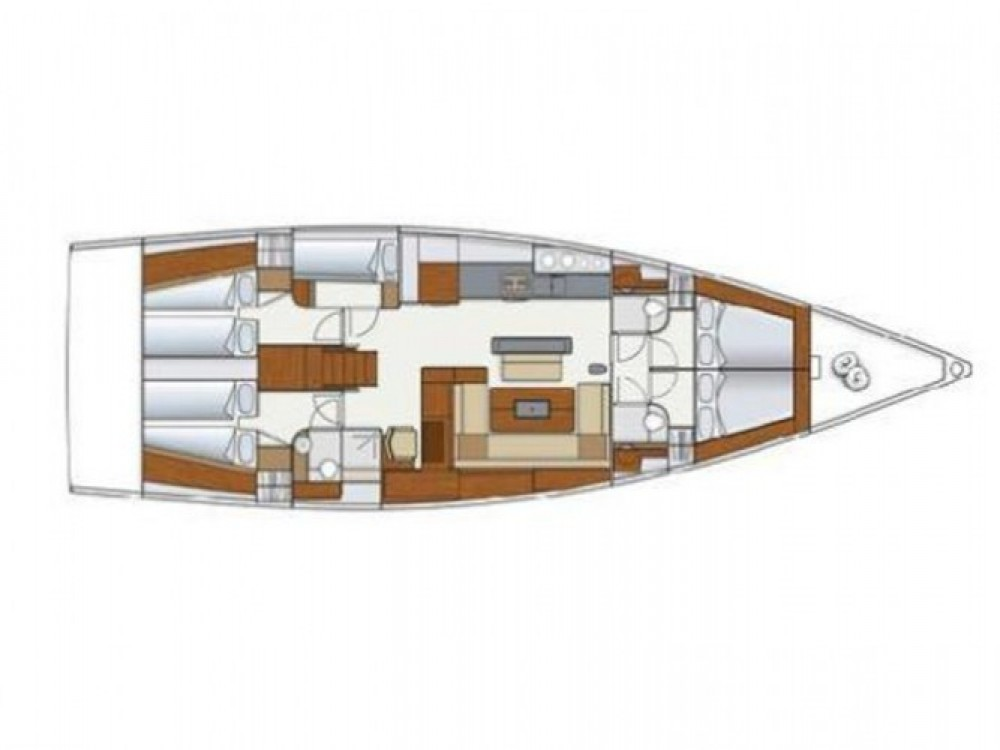 Location bateau Hanse Hanse 575 à ACI Marina Pula sur Samboat