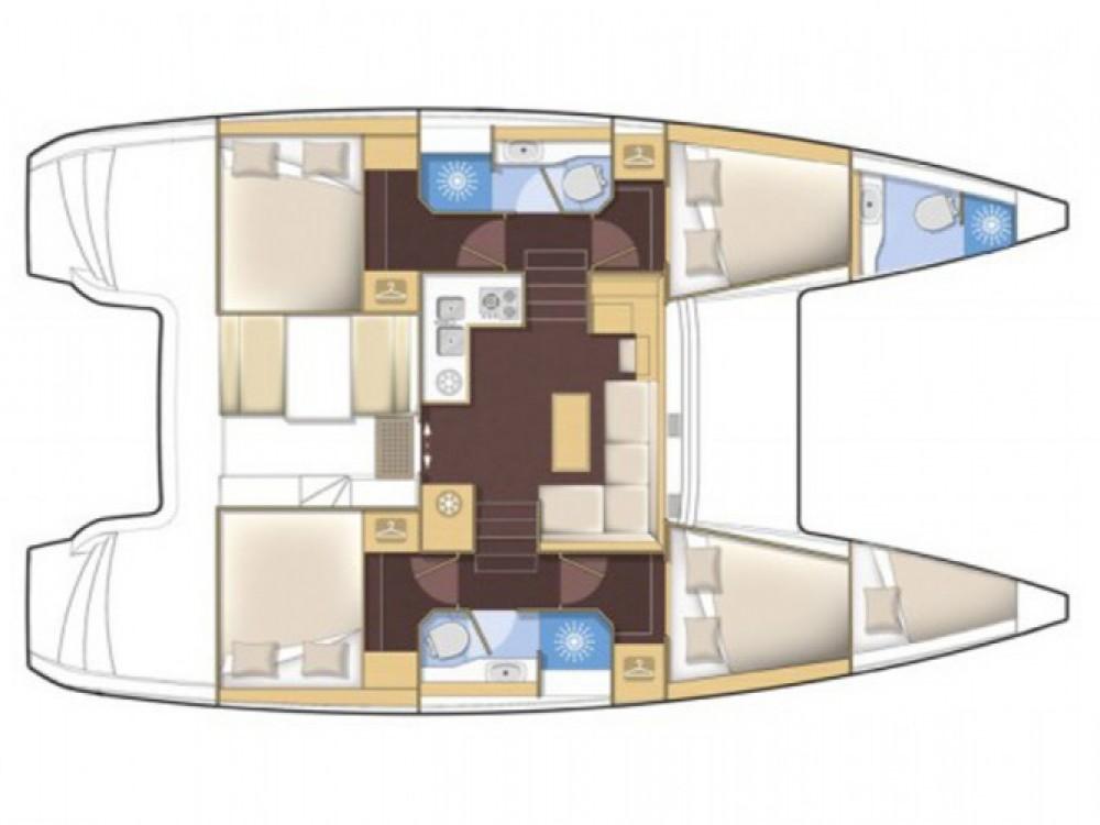 Location bateau Leucade pas cher Lagoon 39