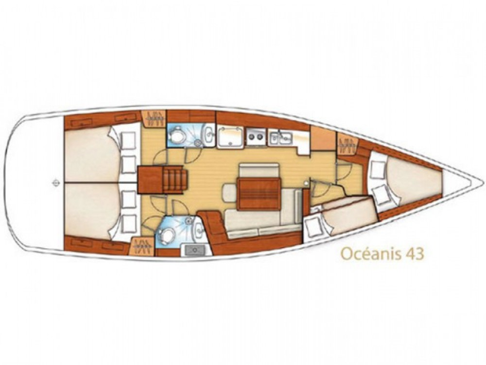 Location Voilier à Marina Gouvia - Bénéteau Oceanis 43