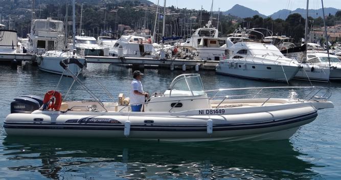 Rental RIB Capelli with a permit