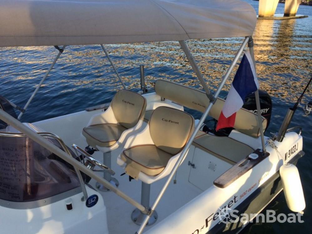 Bootverhuur Mandelieu-la-Napoule goedkoop Cap Ferret 502 Open Swing