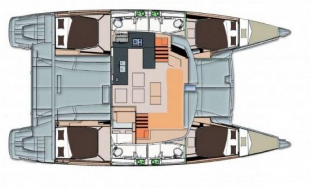 Location bateau Fountaine Pajot News évolution 44 à Mandelieu-la-Napoule sur Samboat