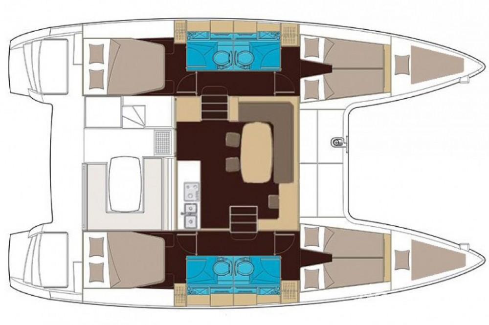 Location bateau Lagoon Lagoon 400 S2 à Μαρίνα Αλίμου sur Samboat