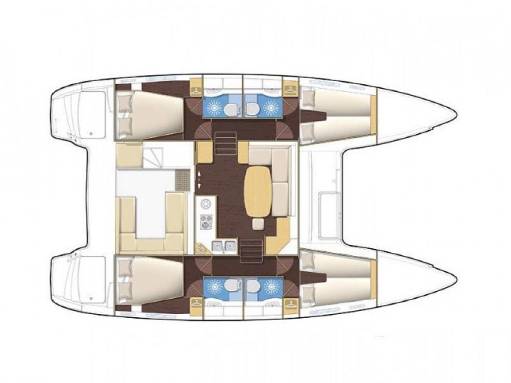 Location bateau Marina de Alimos pas cher Lagoon 400