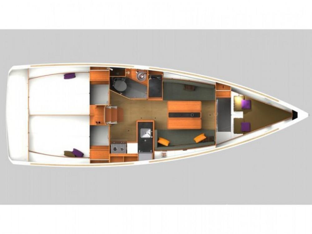 Location bateau Jeanneau Sun Odyssey 349 à ACI Marina Split sur Samboat