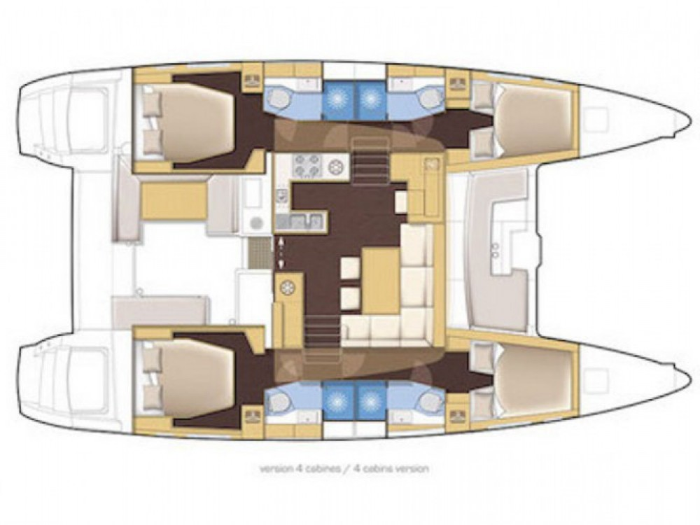 Location bateau Marina d'Arechi pas cher Lagoon 400 S2