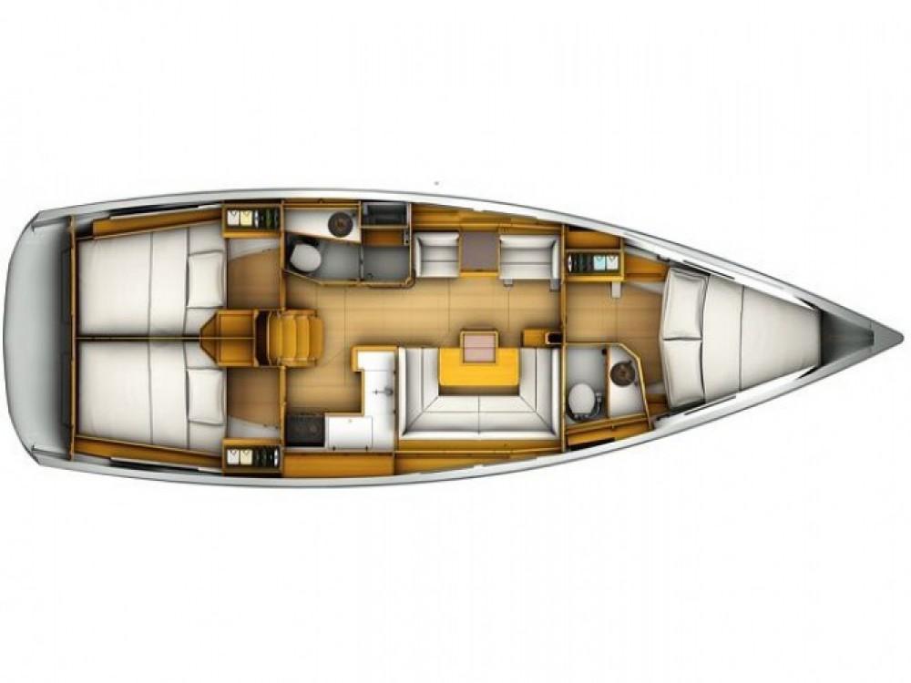 Location bateau Jeanneau Sun Odyssey 419 à Marina Kaštela sur Samboat