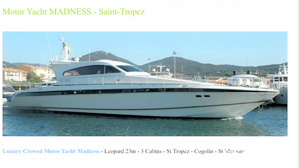 Leopard Leopard 23 between personal and professional Port Grimaud