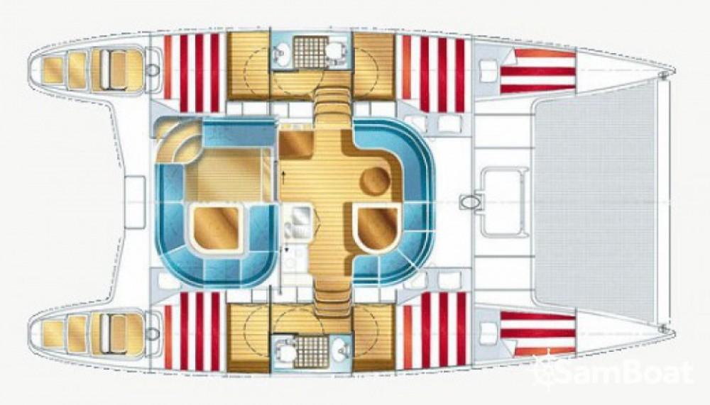 Location bateau Bonifacio pas cher Nautitech 40