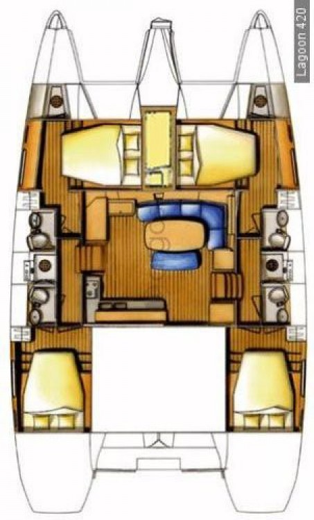 Rental Catamaran in Sukošan - Lagoon Lagoon 420