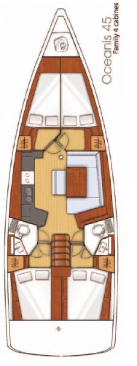 Alquiler de yate Seget Donji - Bénéteau Oceanis 45 en SamBoat
