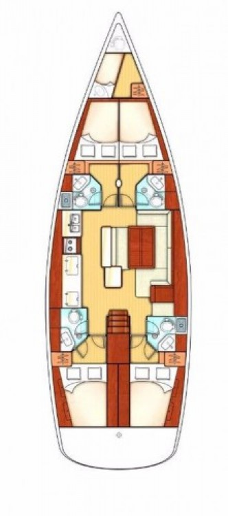 Alquiler de barcos Cartagena de Indias barato de Oceanis 50 Family