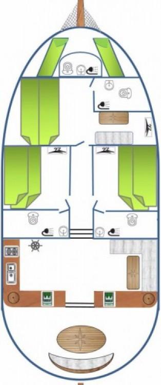 Alquiler de Custom Made Larus - 3 + 1 cab. en Pirovac