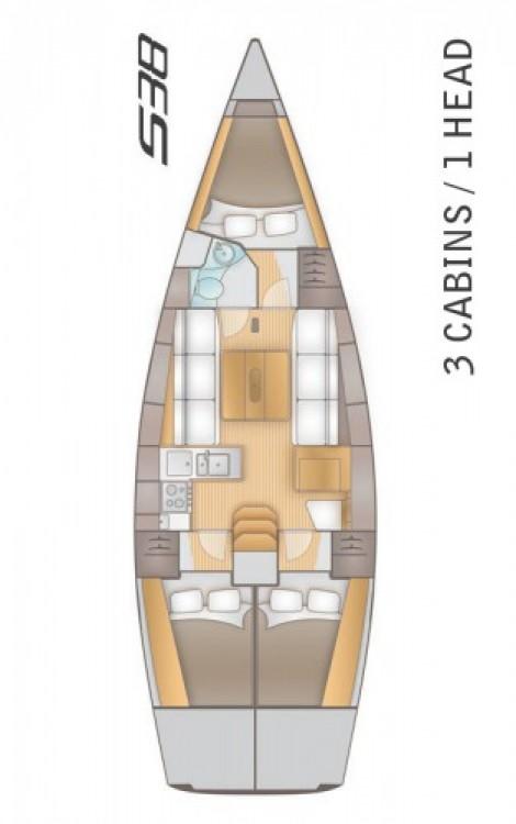 Alquiler Velero Salona con título de navegación